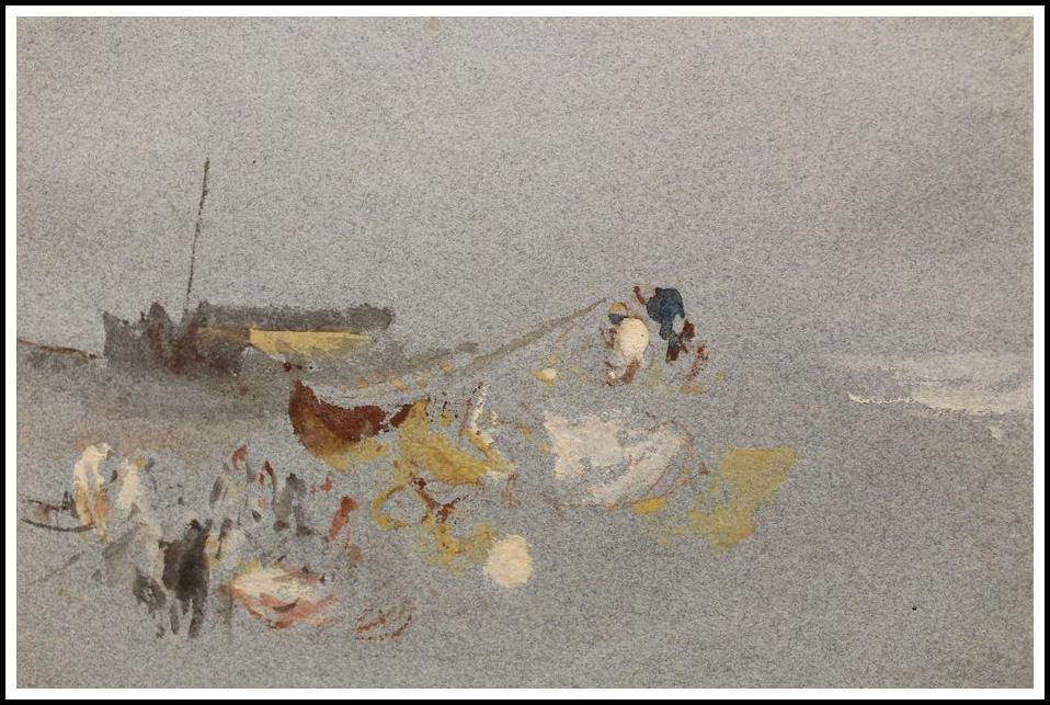 Fishermen on the Shore by Joseph Mallord William Turner