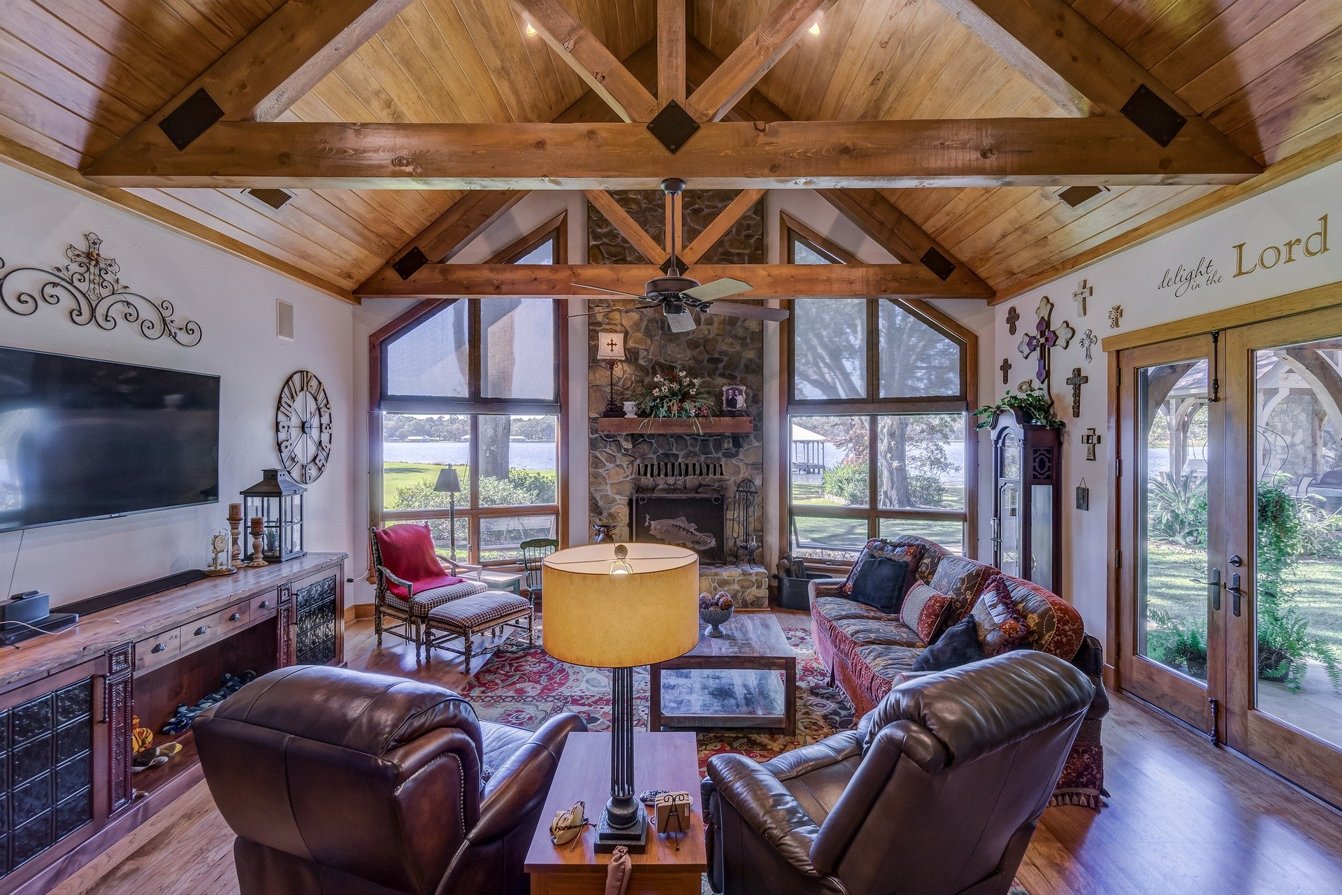 A rustic family room